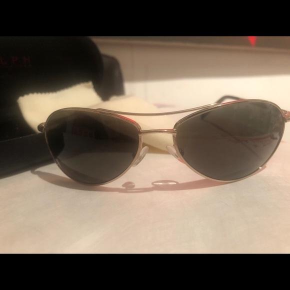 13dfd3cecfff RALPH LAUREN Accessories | Womens Aviators Gold Frame Dk Green ...